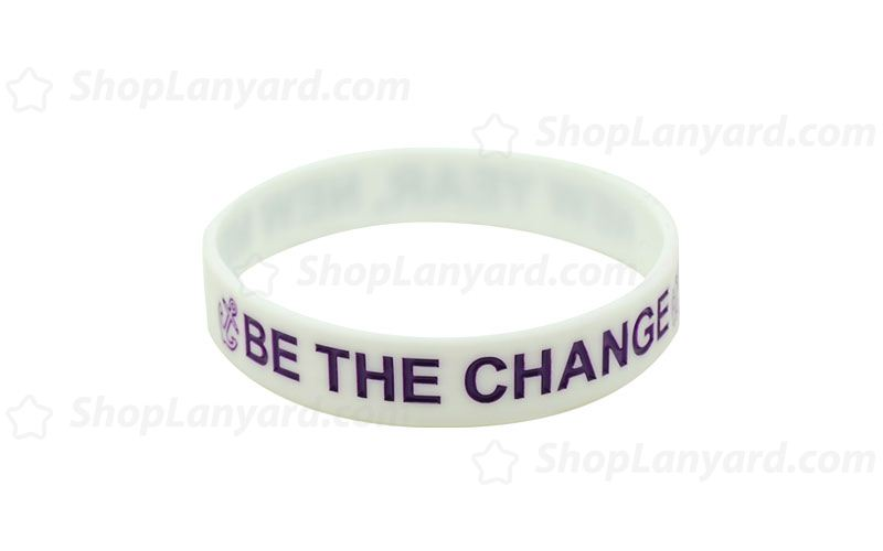 White Colorfilled Wristband-CFW12ASO