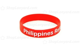 Solid Red ColorfilledWristband-CFW12ASO